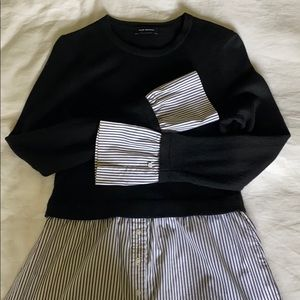 CLUB MONACO Striped Shirt and Sweater Combo